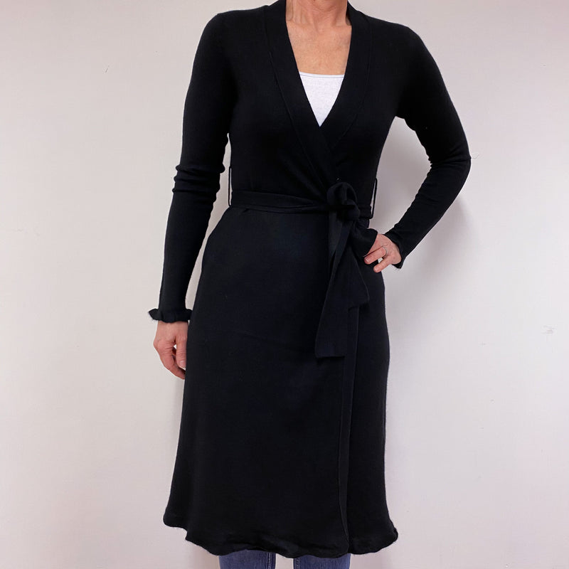 Long Black Wrap Dress Medium