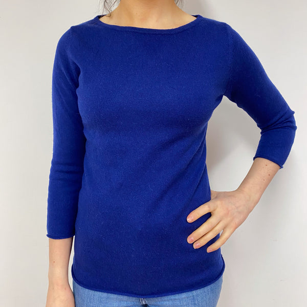 French Navy Crew Neck Jumper Small