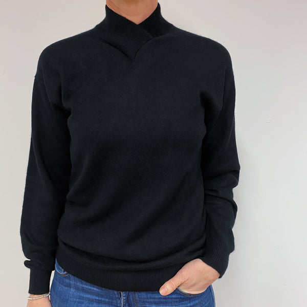 Black Turtle Neck Jumper Medium