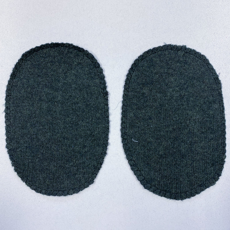 Large Dark Olive Green Elbow Patches