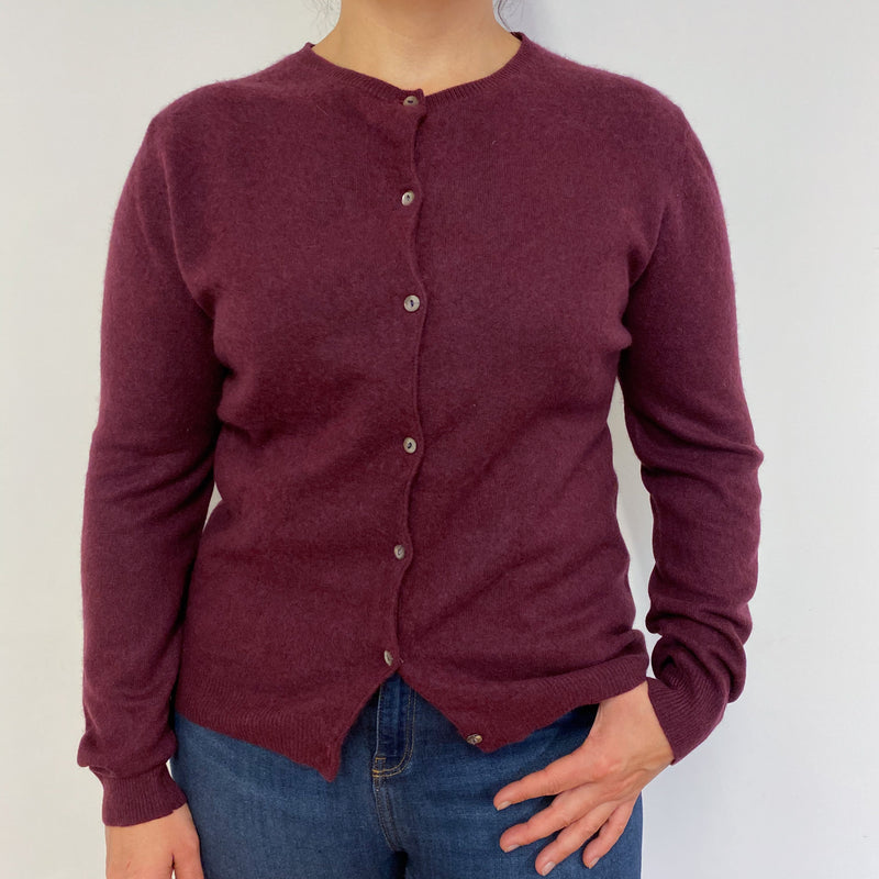 Plum  Crew Neck Cardigan Large