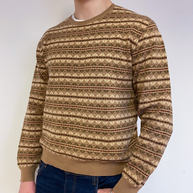 Men's Vintage Ralph Lauren Patterned Jumper Large