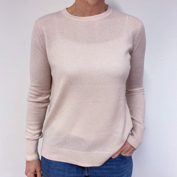 Baby Pink Crew Neck Jumper Medium