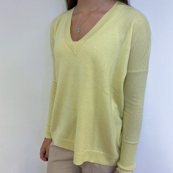 Sherbet Lemon V Neck Tunic Style Jumper Extra Small