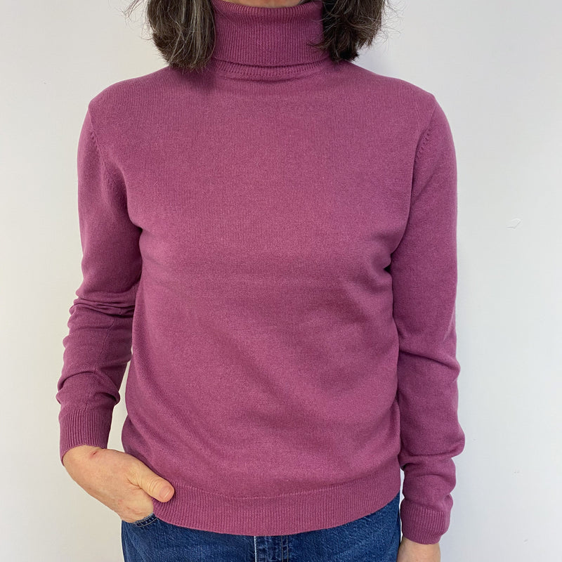 Heather Polo Neck Jumper Medium