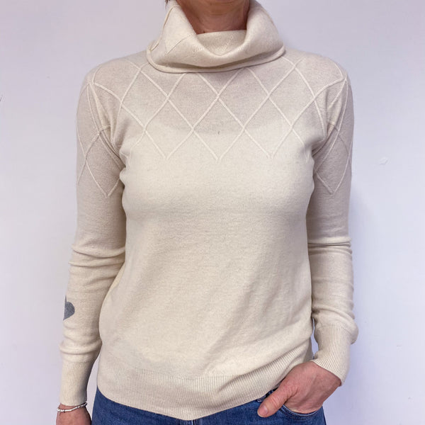 Vanilla Heart Polo Neck Jumper Medium