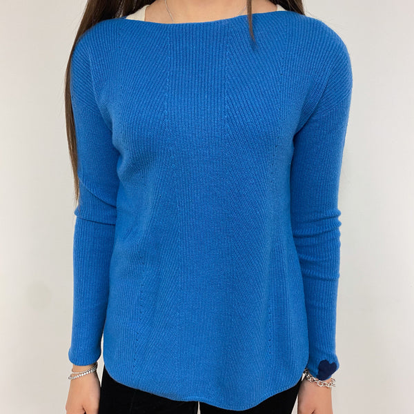 Azure Blue Crew Neck Jumper Extra Small