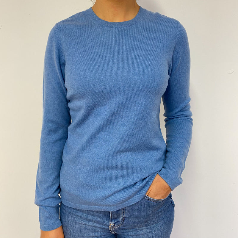 Cornflower Blue Crew Neck Jumper Small