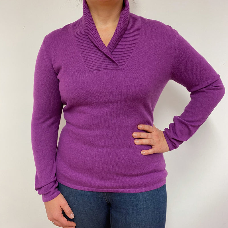Violet Shawl Collar Jumper Large