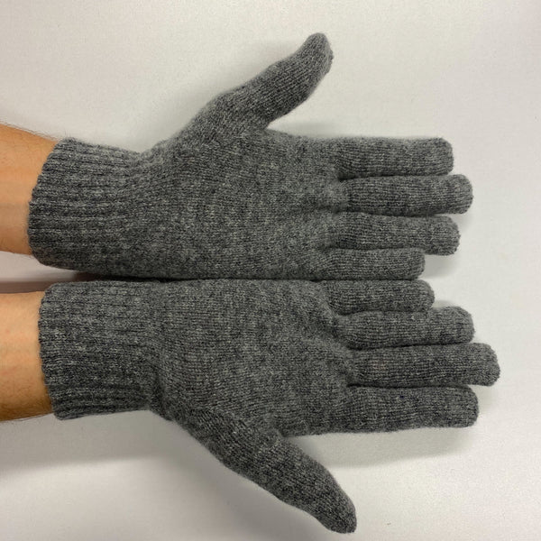 Men's New Grey Cashmere Gloves
