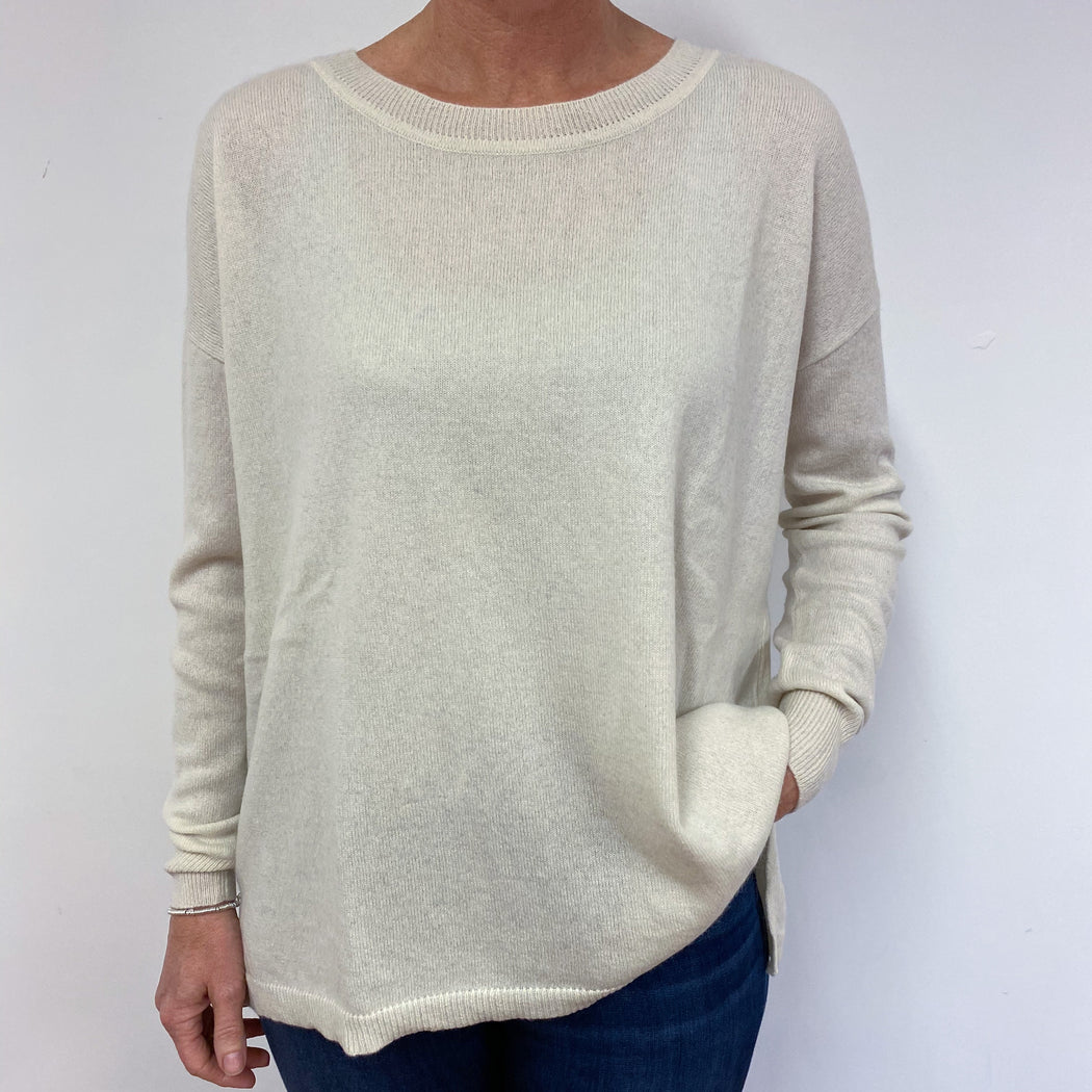 Buttermilk Crew Neck Slouchy Tunic Medium