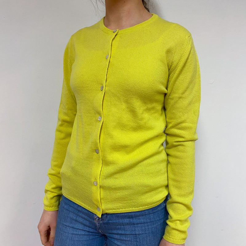 Brand New Scottish Chartreuse Yellow Cardigan Small