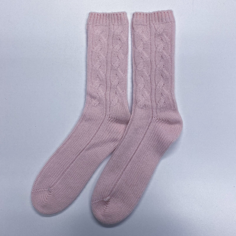 Brand New Baby Pink Cashmere Socks Up To Size 3