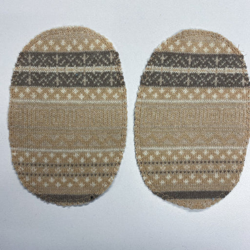 Large Elbow Patches Camel Fairisle