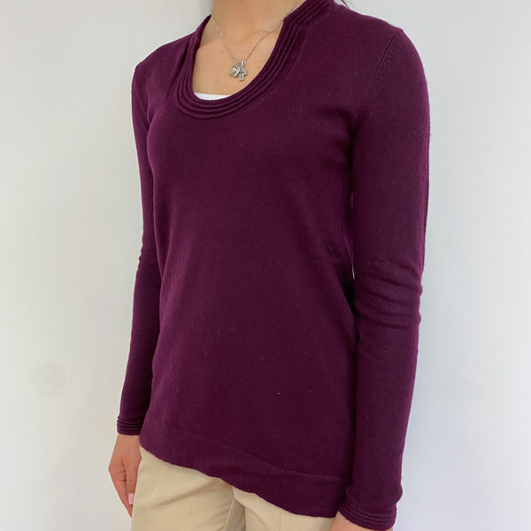 Aubergine Crew Neck Jumper Extra Small