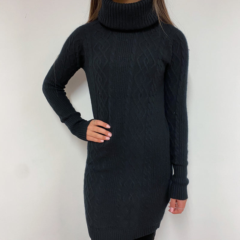 Brand New Black Polo Neck Dress Extra Small