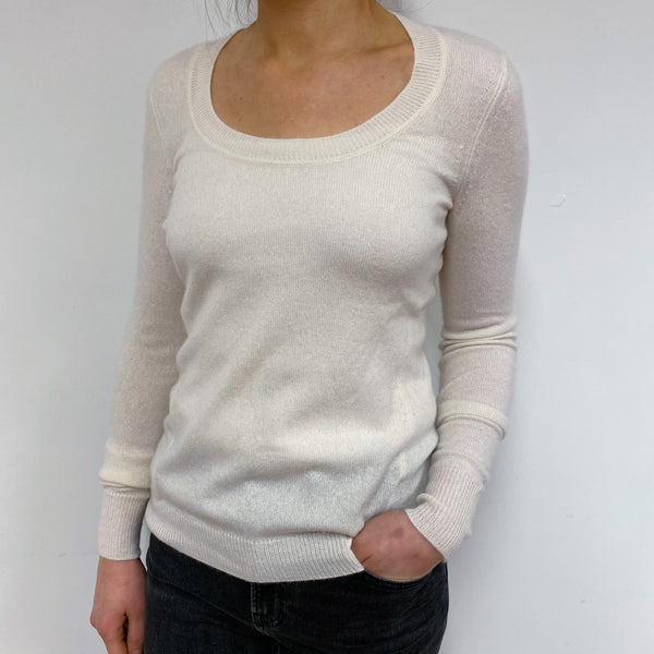Winter White Round Neck Jumper Small