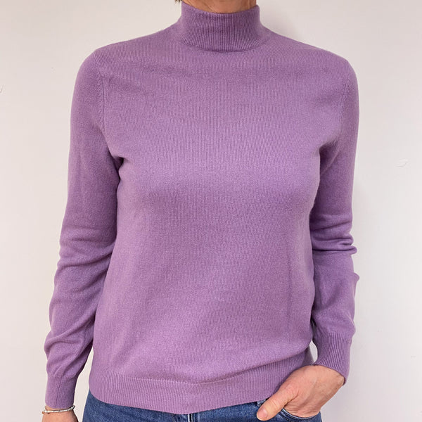 Mauve Turtle Neck Jumper Medium