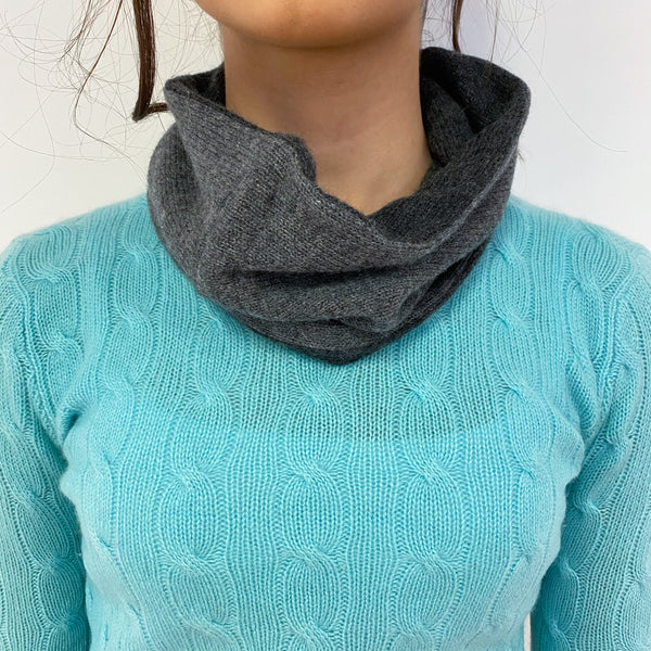 Reversible Slate and Charcoal Grey Neck Warmer