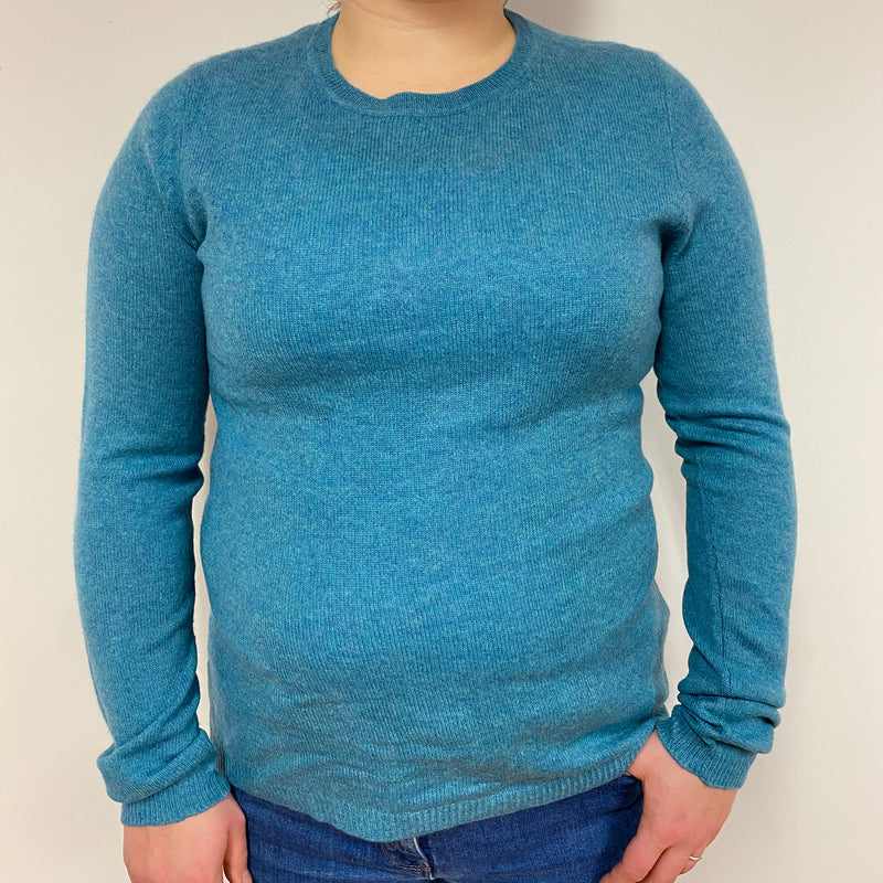 Aqua Blue Crew Neck Jumper Large