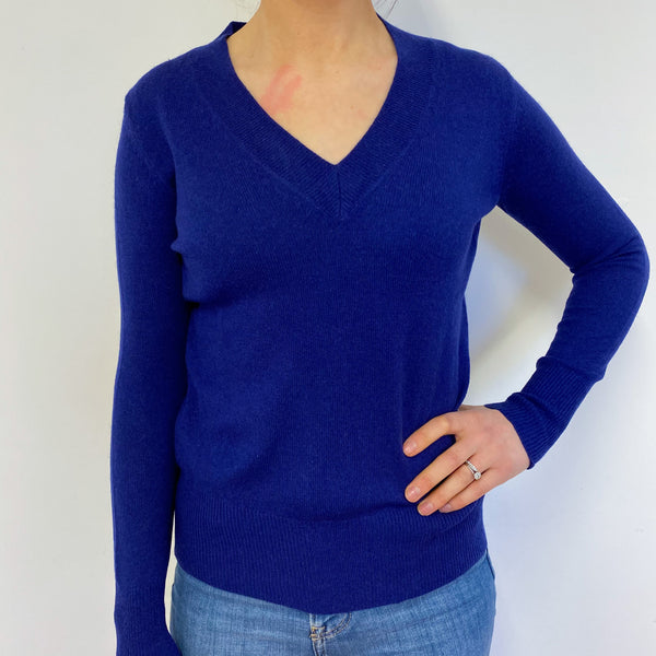 Admiral Blue V Neck Jumper Small