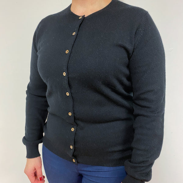 Brand New Scottish Black Crew Cardigan Large