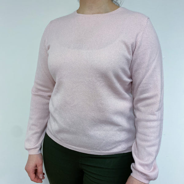 Ice Pink Crew Neck Jumper Large
