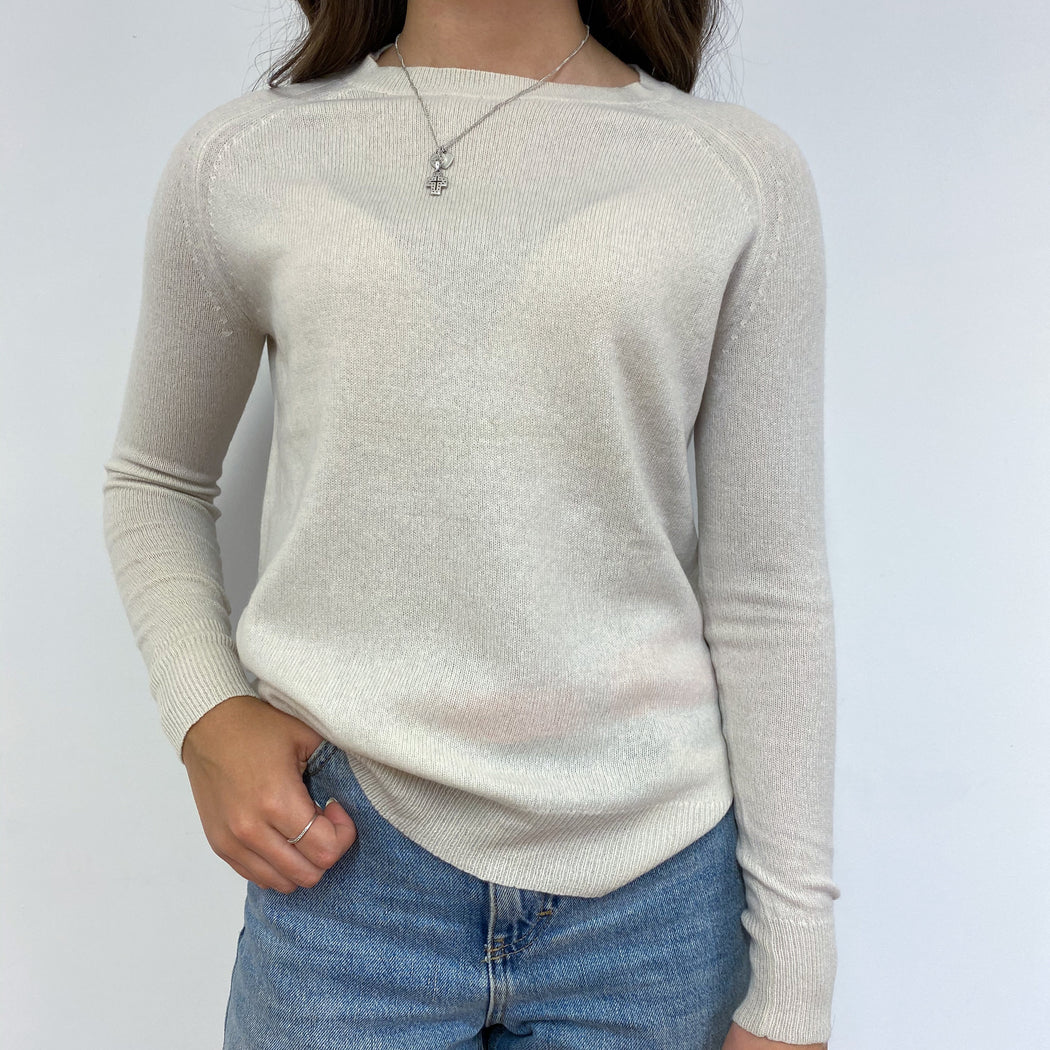 Pale Caramel Crew Neck Jumper X-Small