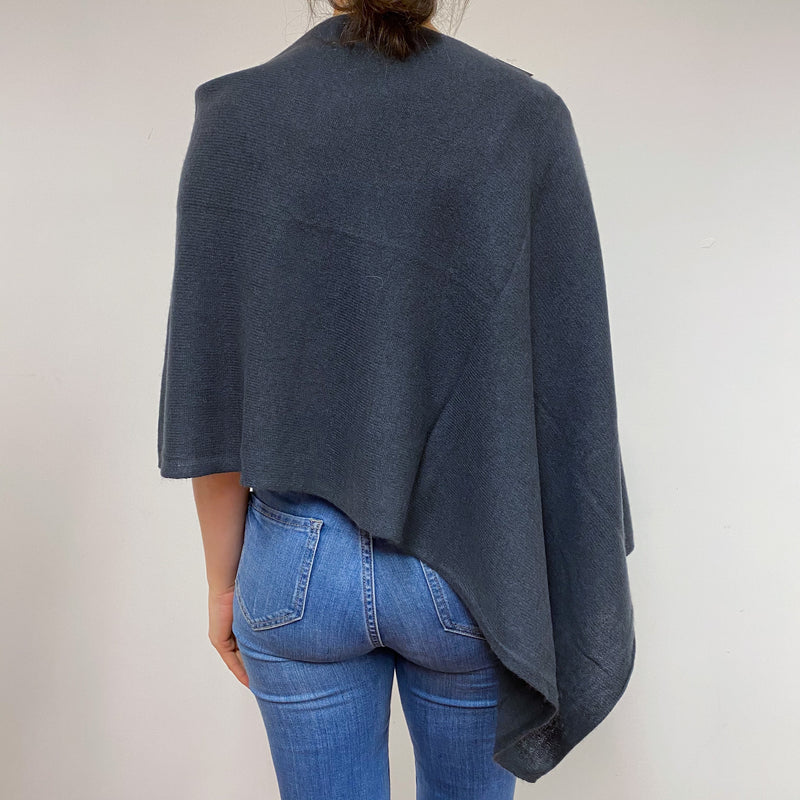 Charcoal Grey Poncho One Size