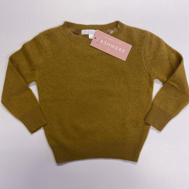 Children's Olive Green Crew Neck Burberry Jumper Age 2