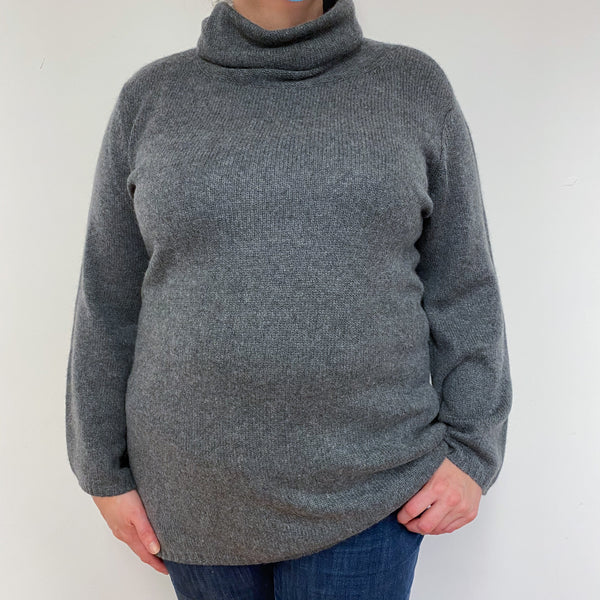 Slate Grey Roll Neck Jumper Extra Large