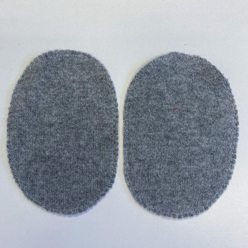 Large Steel Grey Elbow Patches