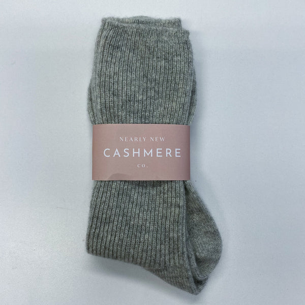 New Mid Grey Ladies Cashmere Bed Socks