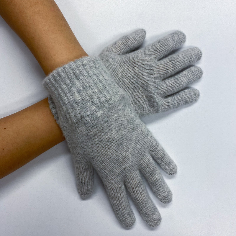 Brand New Soft Grey Gloves Ladies S/M