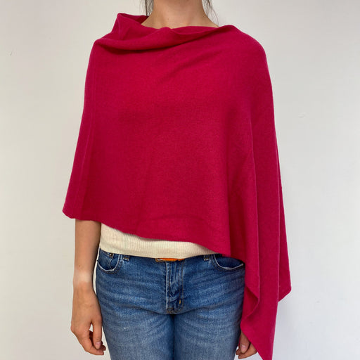 Shocking Pink Poncho One Size