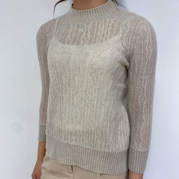 Biscuit Turtle Neck Lightweight Jumper Extra Small