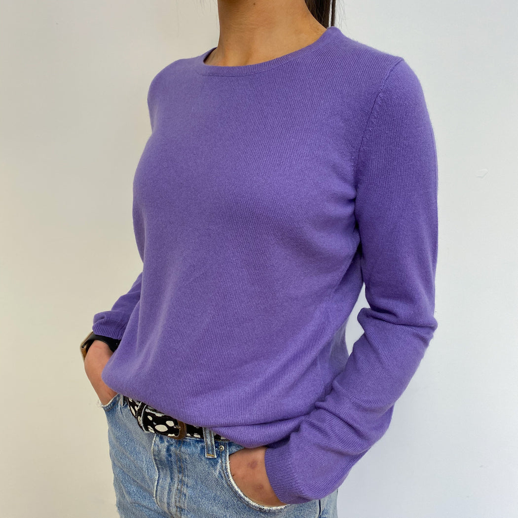 Rich Lavender Crew Neck Jumper Small