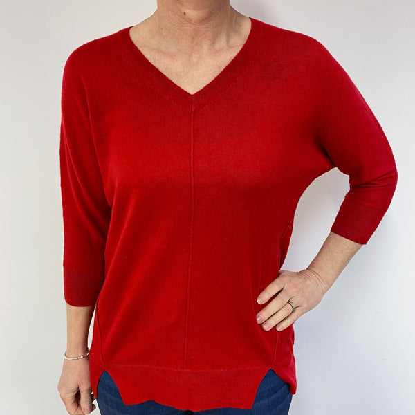 Scarlett Star V Neck Jumper Medium