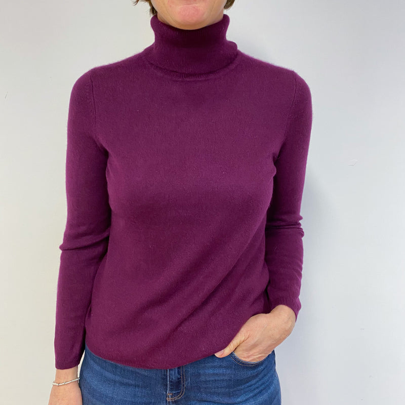 Beetroot Purple Polo Neck Jumper Medium