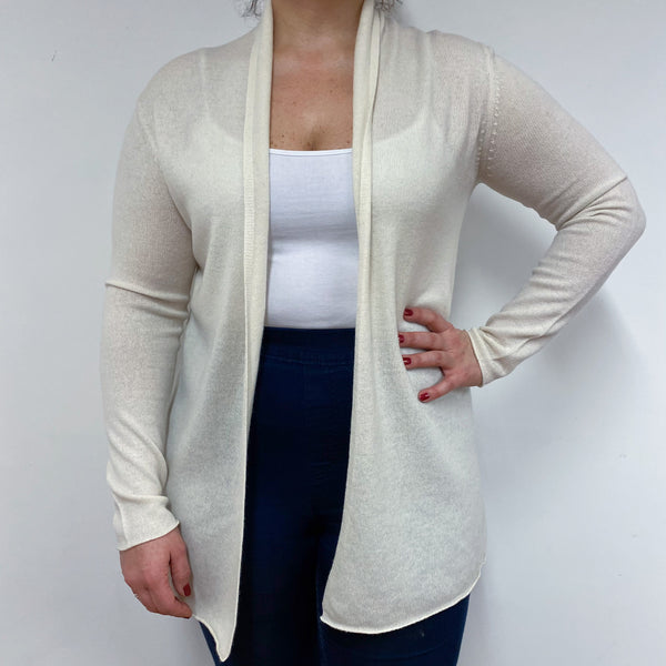 Ivory Edge to Edge Long Cardigan Large
