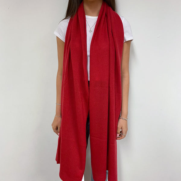 Spanish Red Extra Large Scarf/Wrap