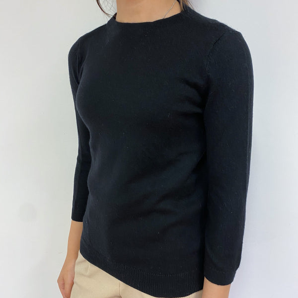 Black Crew Neck Jumper Extra Small