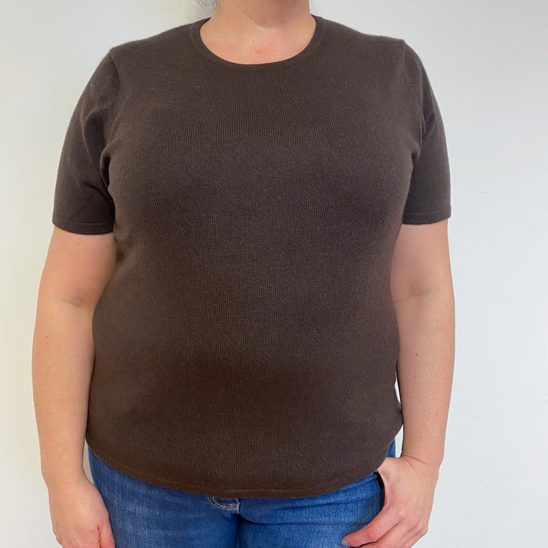 Chocolate Brown Crew Neck Tee Extra Large