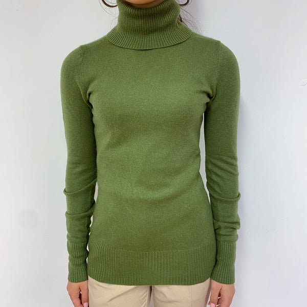Fern Green Polo Neck Jumper Extra Small