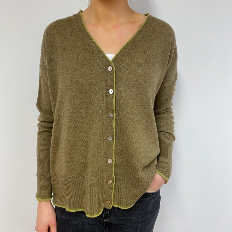 Olive Green Cardigan Small