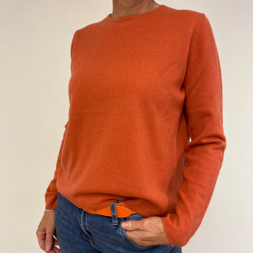 Muted Coral Crew Neck Jumper Large