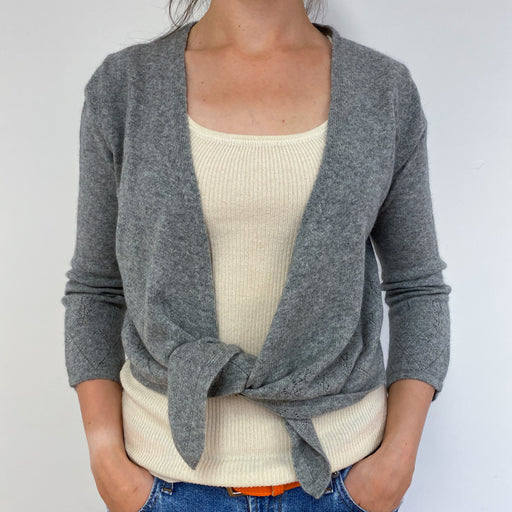 Lovely Dove Grey Cardigan Medium