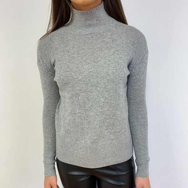 Pale Grey Turtle Neck Jumper Extra Small