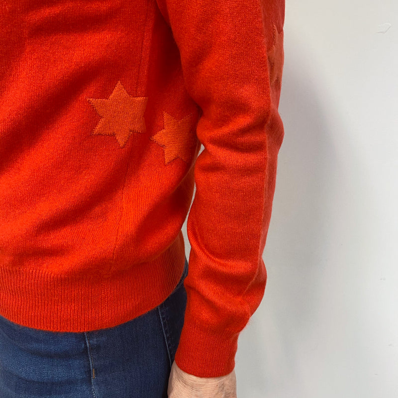 Tangerine Star Crewneck Cardigan Medium