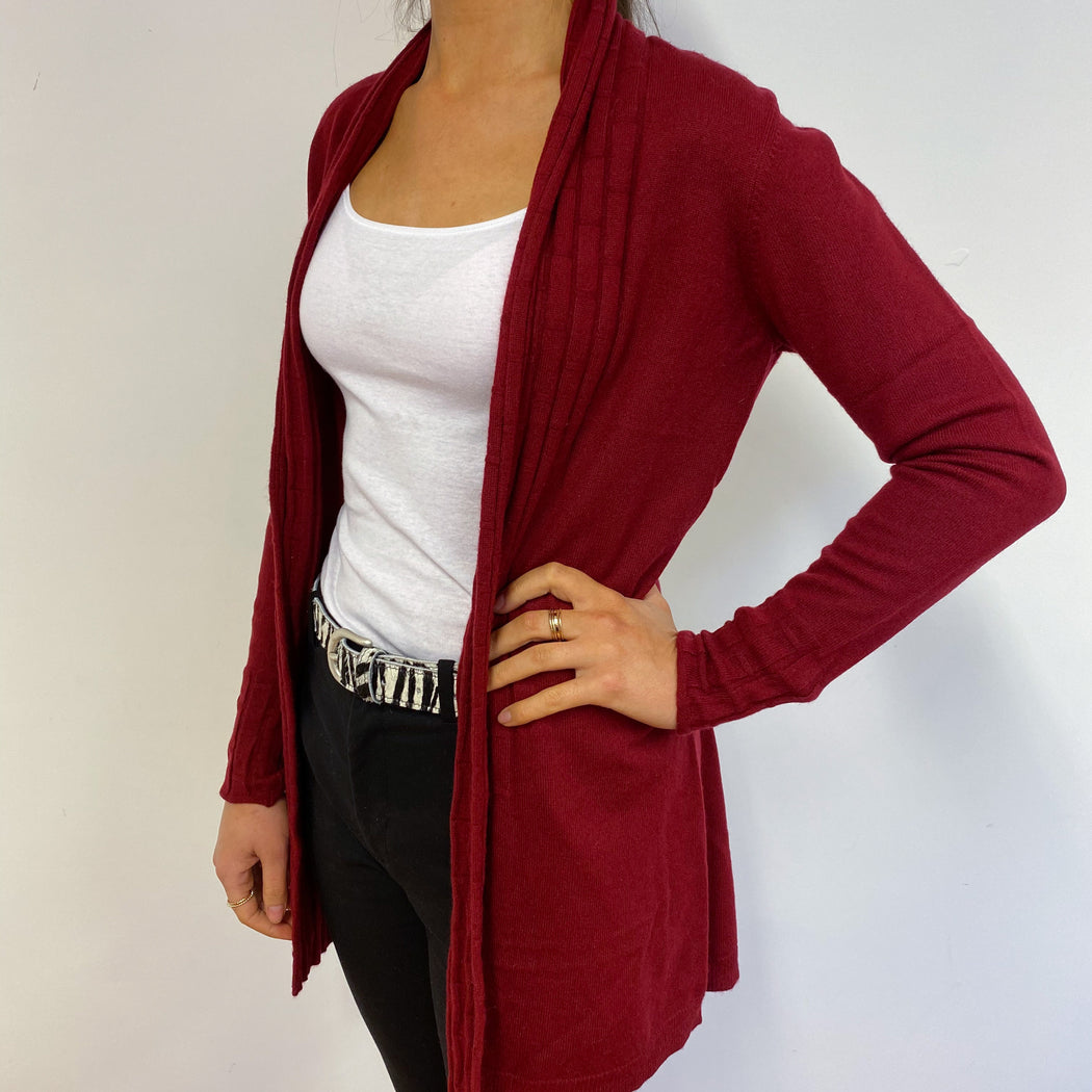 Claret Red Floaty Cardigan Small